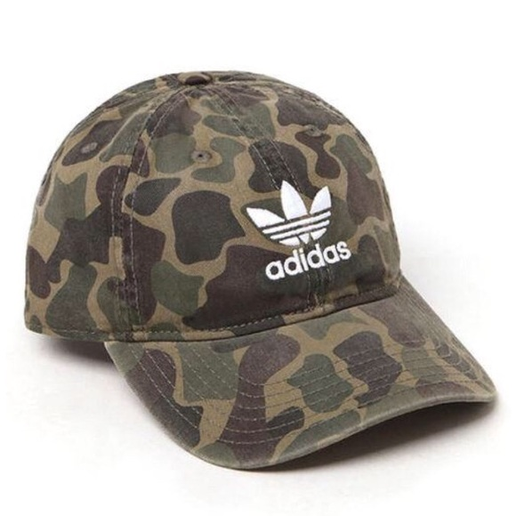 12115a53 adidas Accessories | Nwt Originals Camo Cap Hat Trefoil Firebird ...